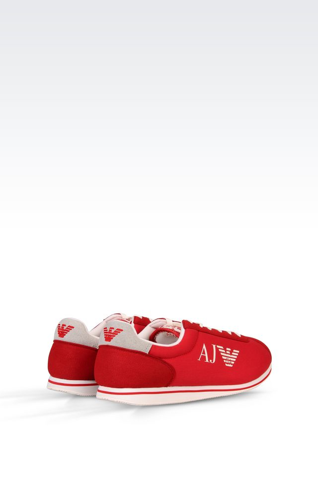 armani jeans sneaker in red lyst. Black Bedroom Furniture Sets. Home Design Ideas