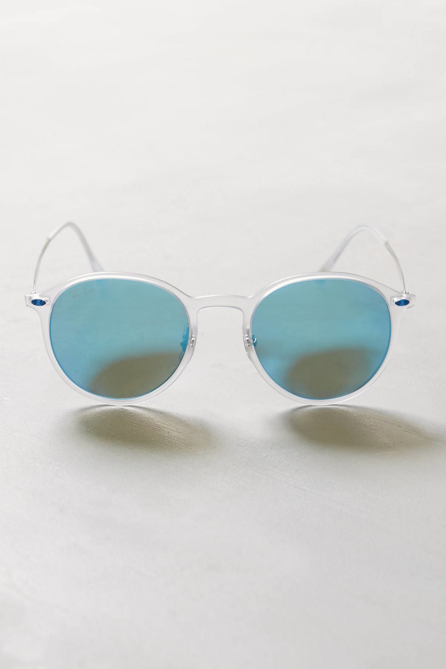 Ray-ban Lightray Round Sunglasses in White