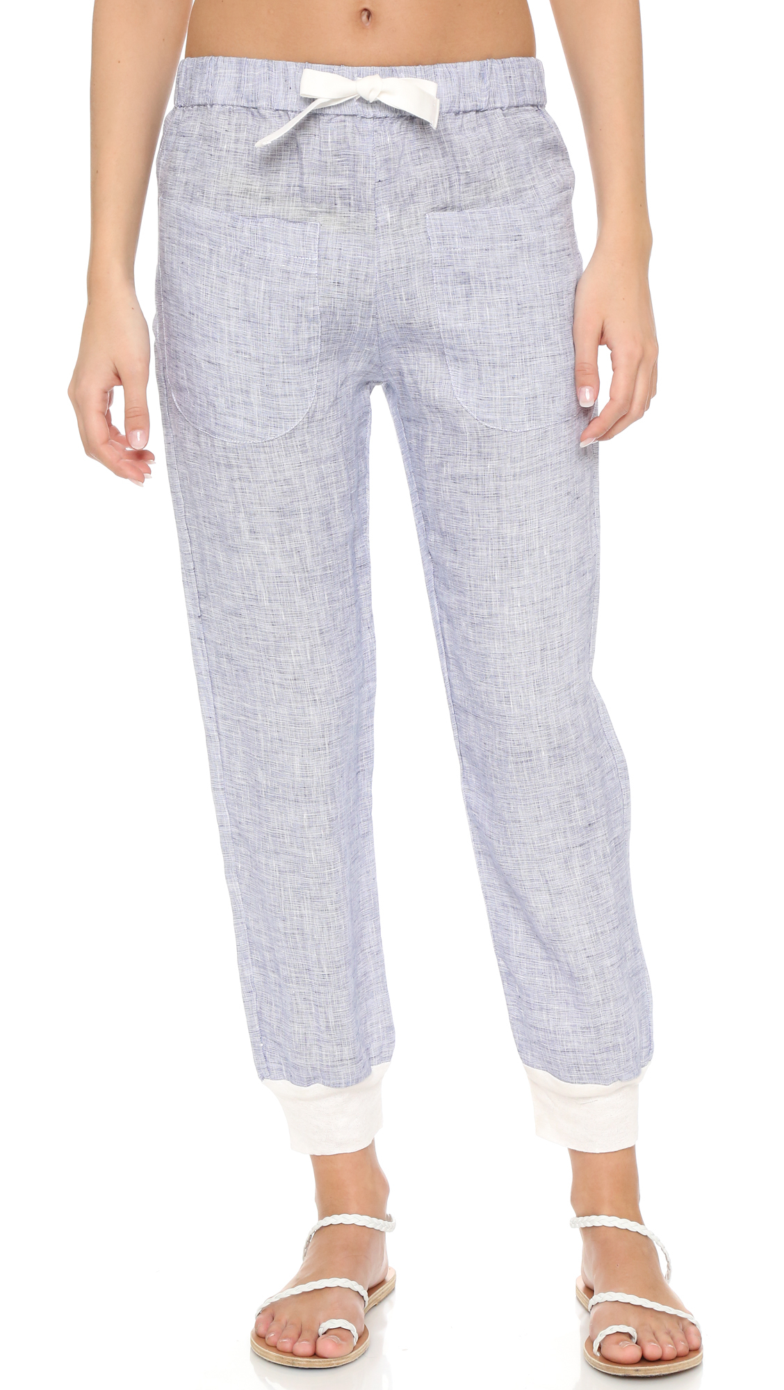Solid & striped The Linen Lounge Pants in Blue | Lyst