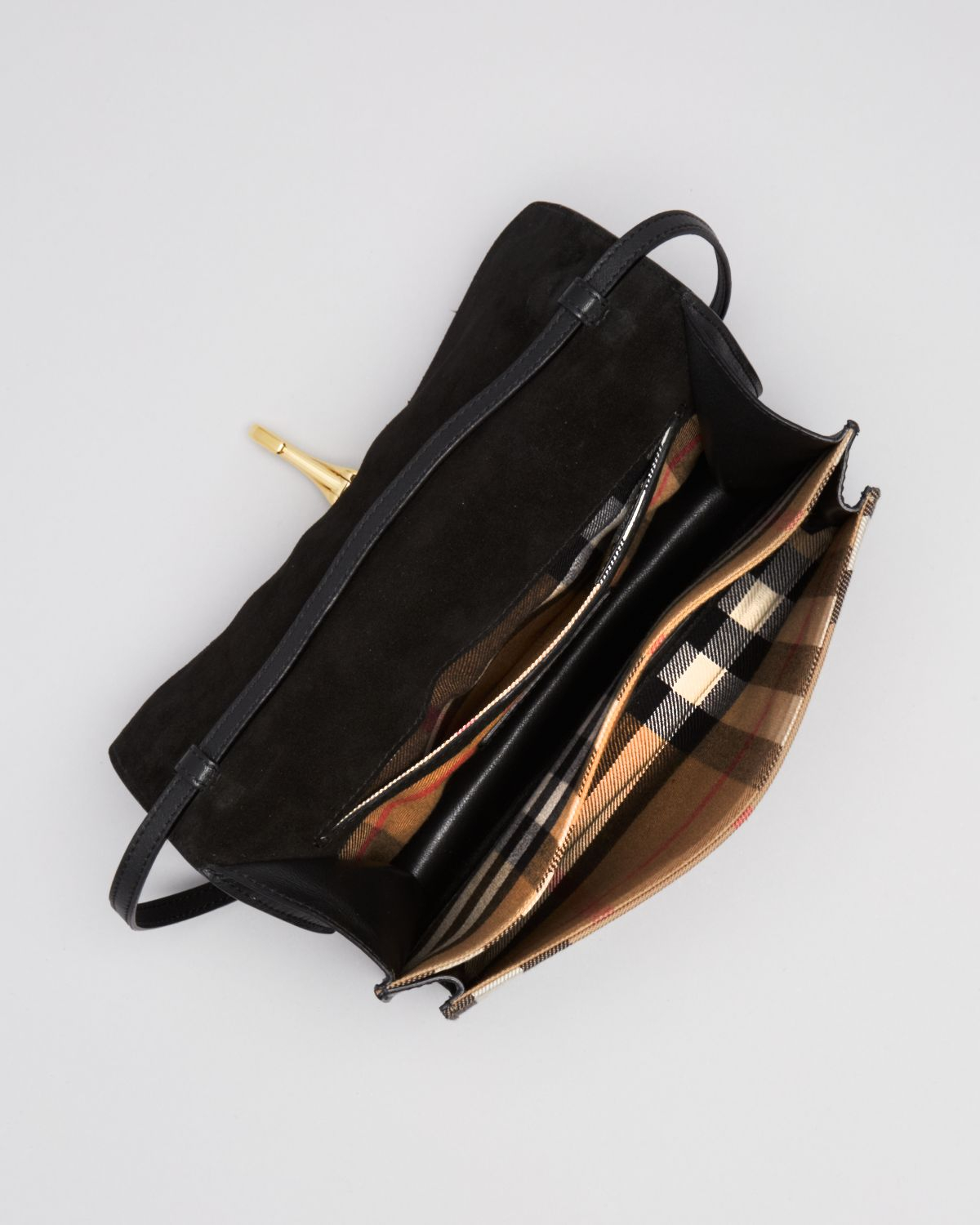 c4727896ee8a Lyst - Burberry Crossbody House Check Sartorial Small Macken in Black