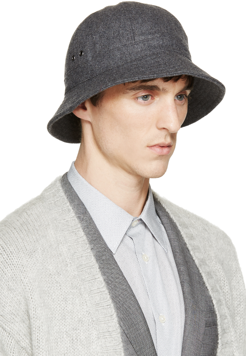 912e7751cb6ab italy lyst paul smith grey wool robert bucket hat in gray for men 740ea  67110