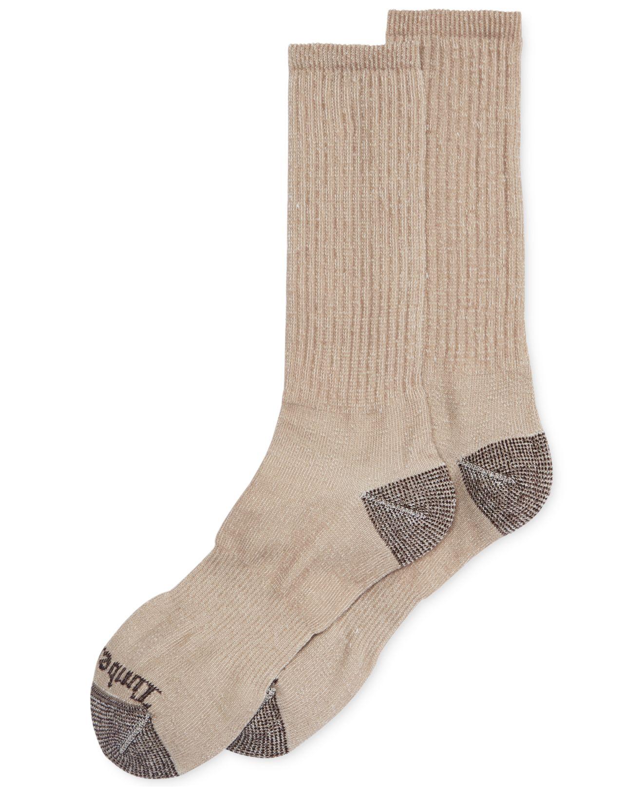 aca7c9fca34c Timberland Men's Mid-weight Merino Wool Crew Socks 2-pack in Natural ...