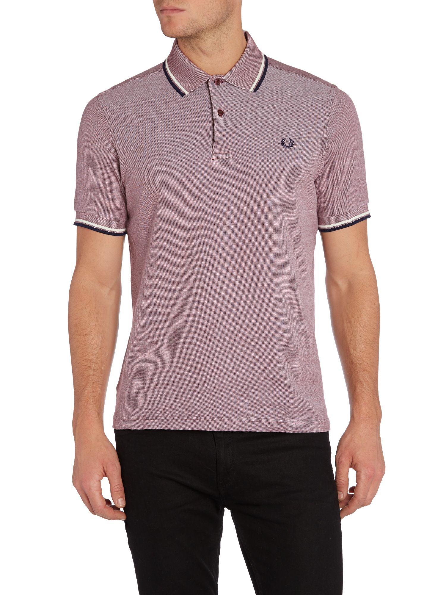 fred perry twin tipped regular fit polo in purple for men port lyst. Black Bedroom Furniture Sets. Home Design Ideas