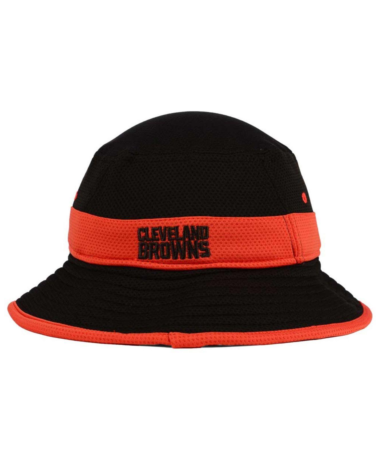 16183bfad Lyst - KTZ Cleveland Browns Training Camp Reverse Bucket Hat in Black for  Men