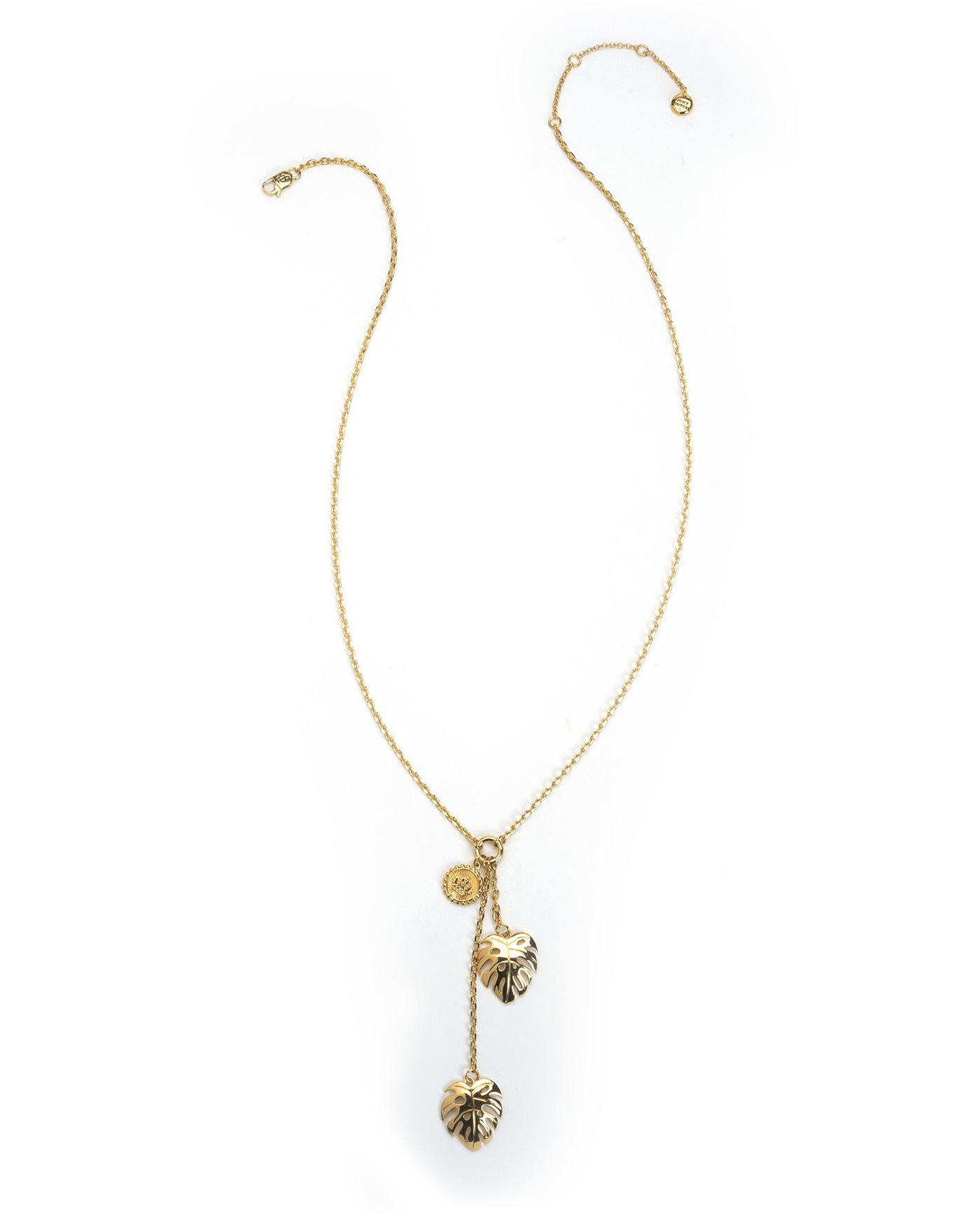 Juicy couture palm leaf pendant necklace in metallic lyst for Juicy couture jewelry necklace