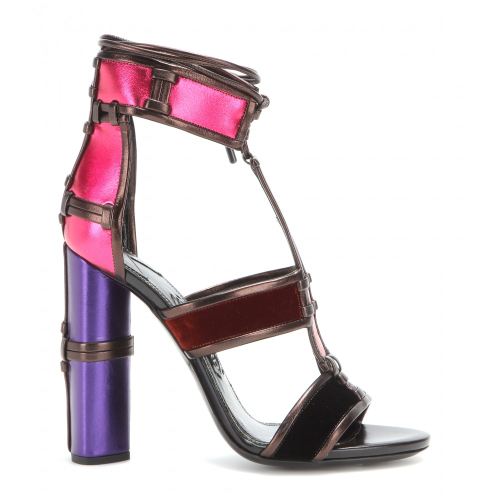free shipping get authentic Tom Ford Leather Floral Sandals 2015 new cheap online HSz3LW5RlU