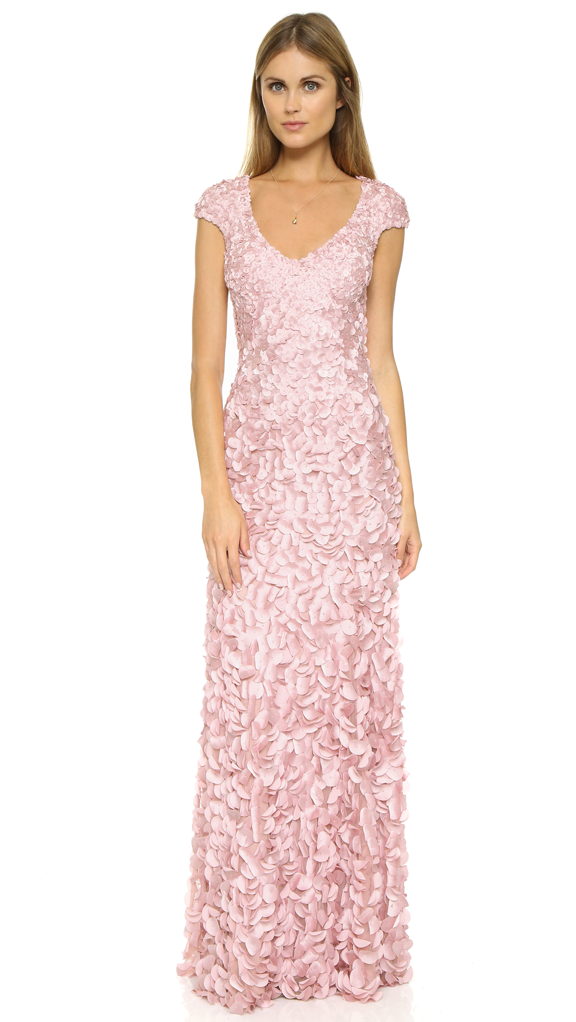 Lyst - Theia Petal Gown in Pink