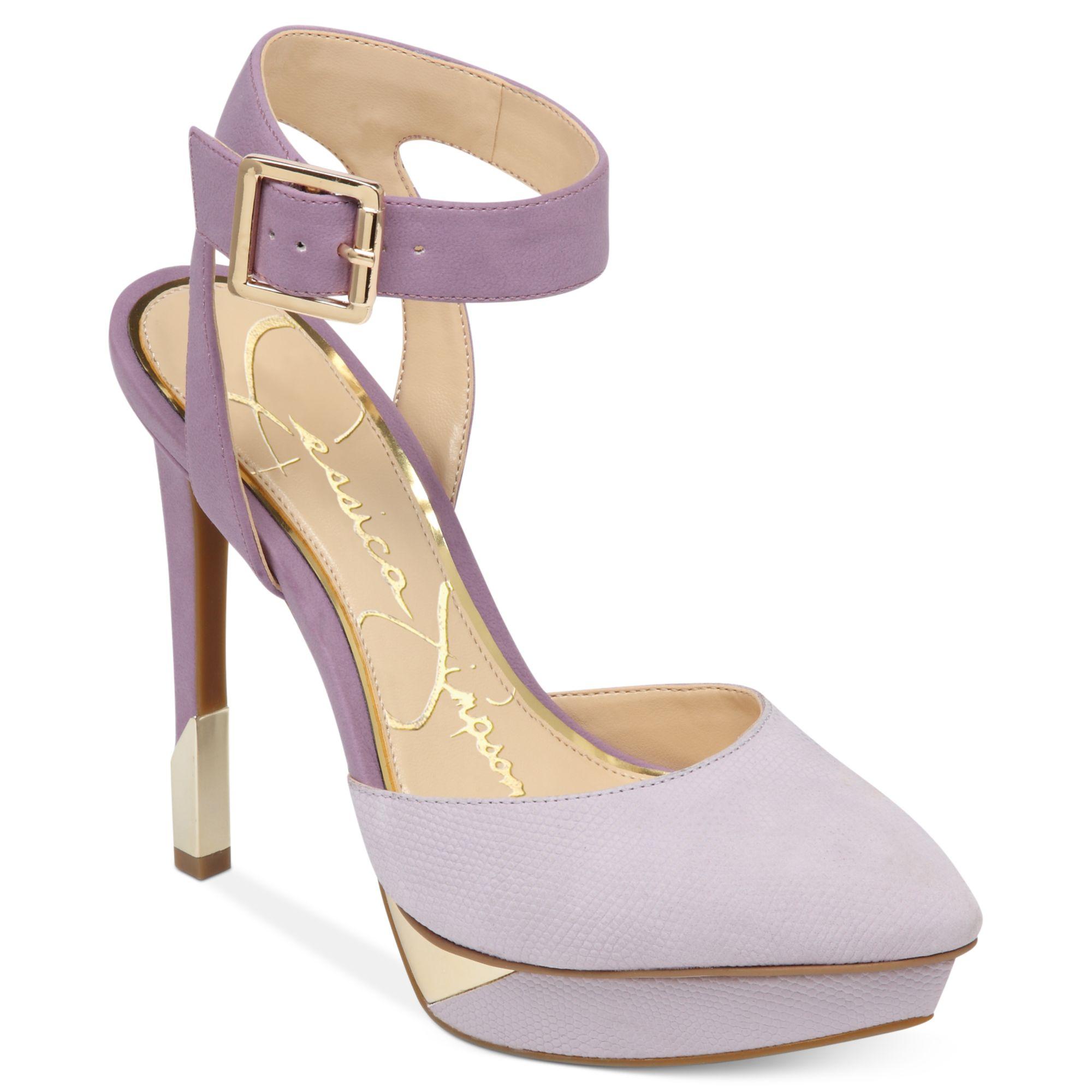 Jessica simpson Valleyy Ankle Strap Platform Pumps in Purple | Lyst