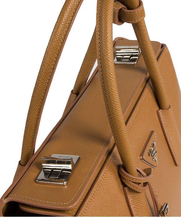 Prada Bn2748 Bag - F098L Caramel Saffiano Cuir Leather Tote in ...