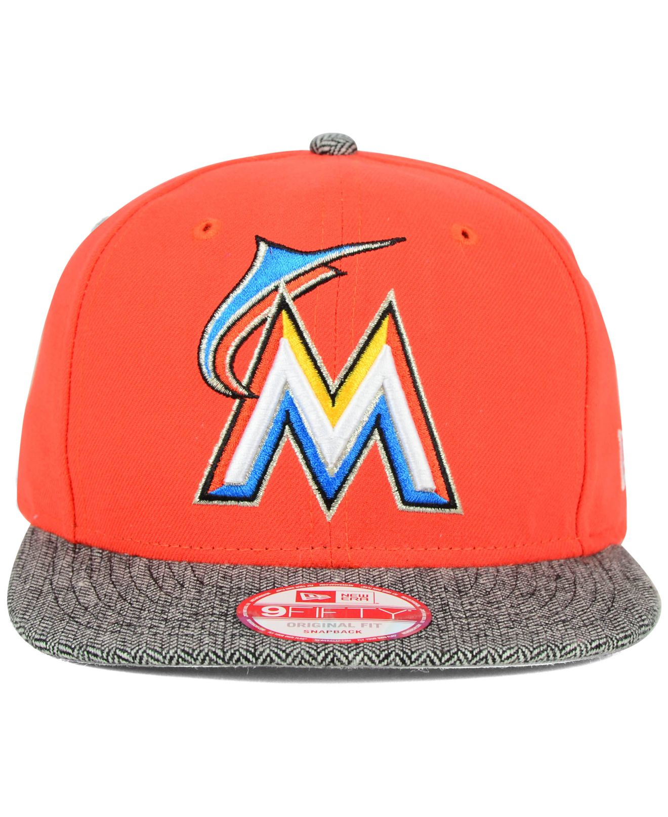 8d394dfb ... switzerland lyst ktz miami marlins premium 9fifty snapback cap in  orange for men 17cb6 510ff