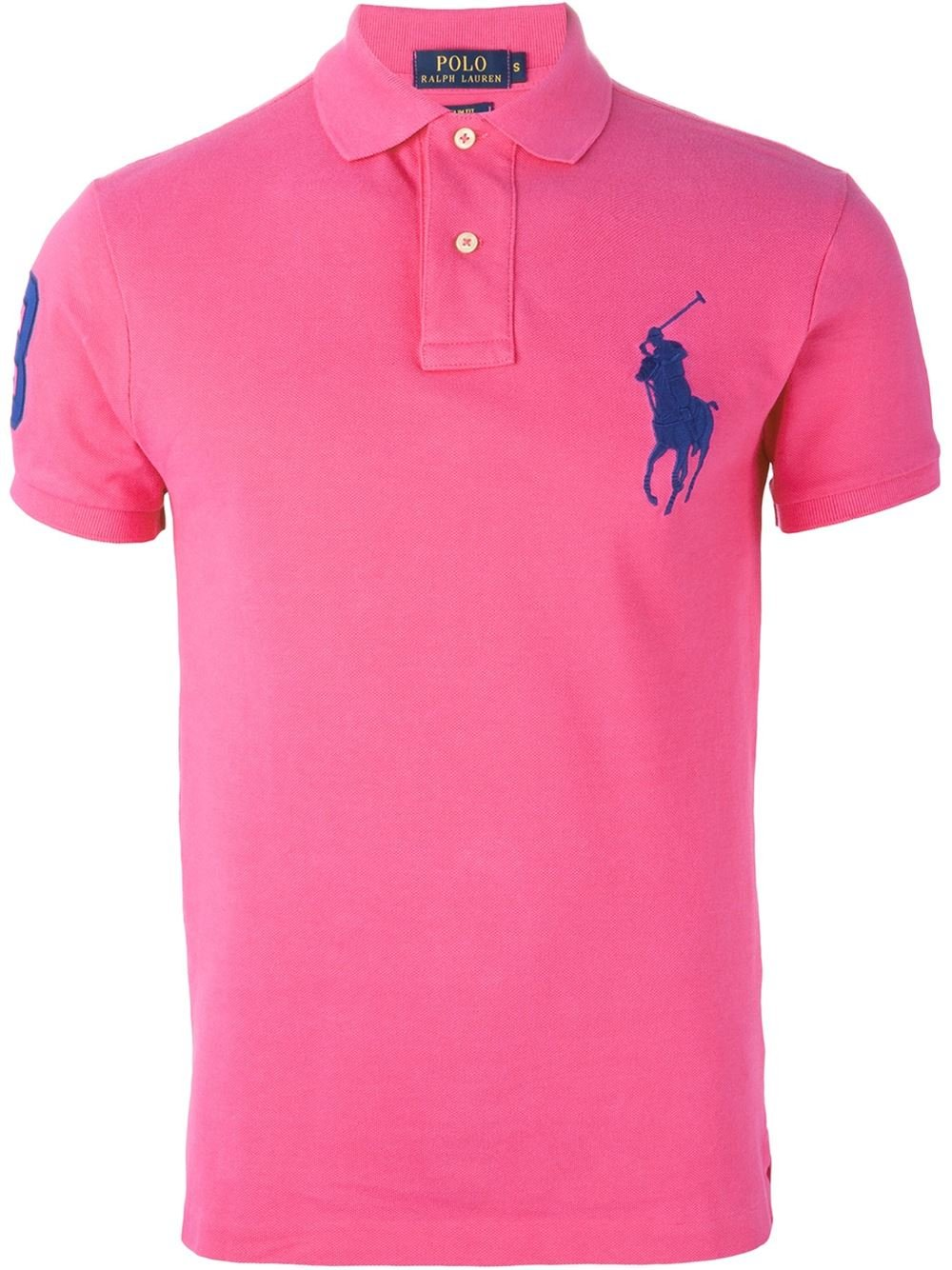 Polo Ralph Lauren Logo Embroidered Polo Shirt In Pink For