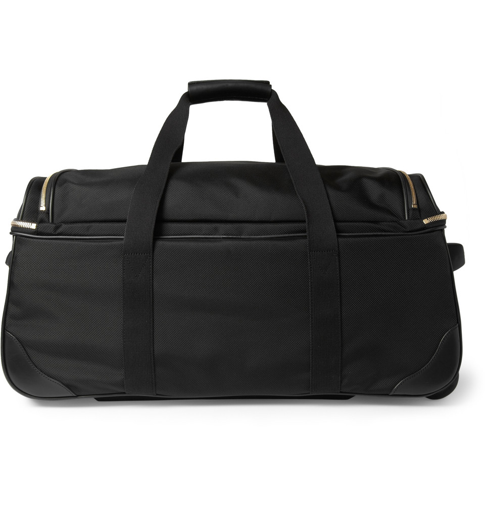 Mulberry Henry Leathertrimmed Nylon Wheeled Suitcase in Black for ... 7fb2434ae0d55
