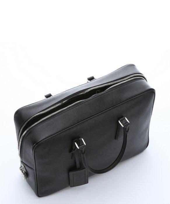 65a57de10e7e7c ... reduced lyst prada black saffiano leather travel bag in black for men  84cb2 dc6fd