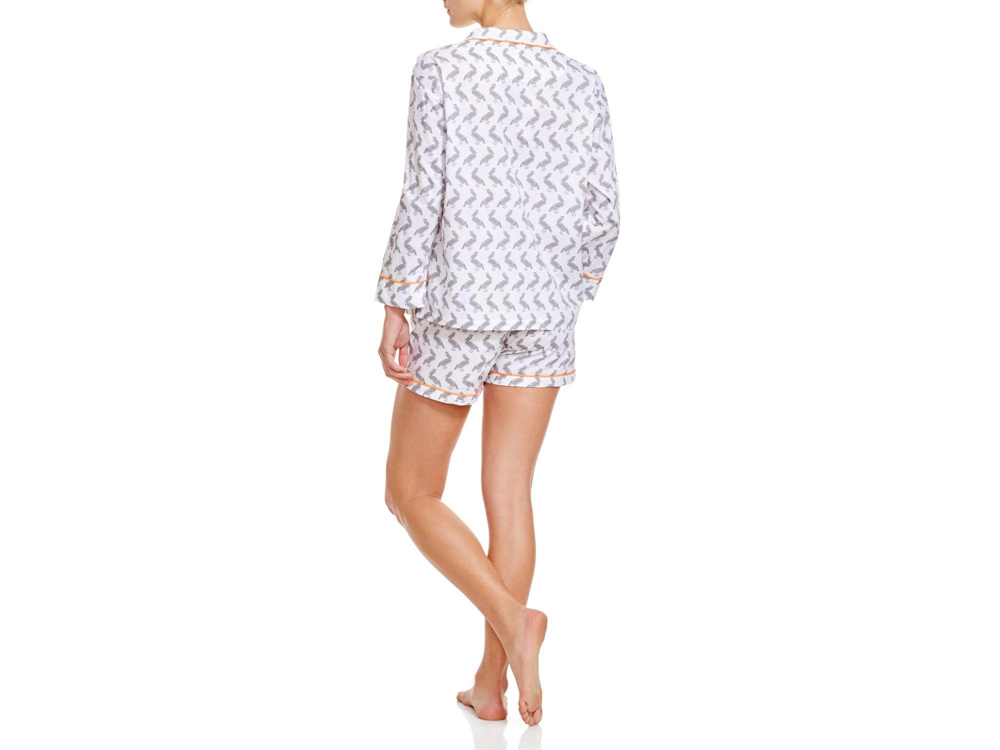 Lyst - Marigot Collection Slate Pelican Short Pajama Sets in Gray 73ec95f8b