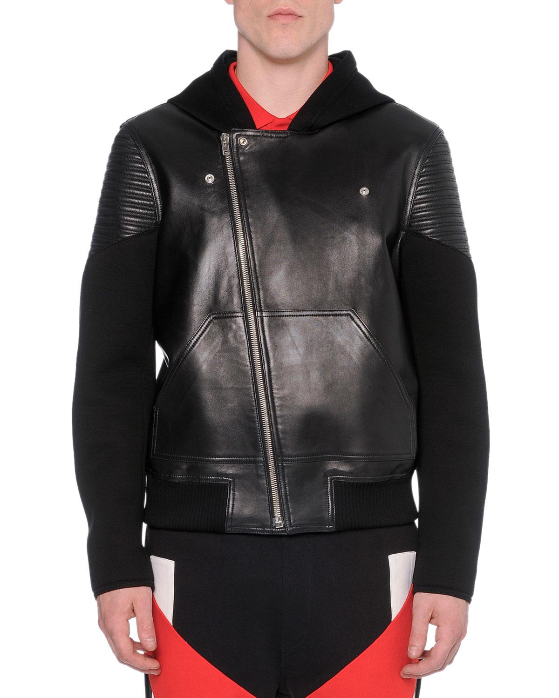 Black scissors leather jacket