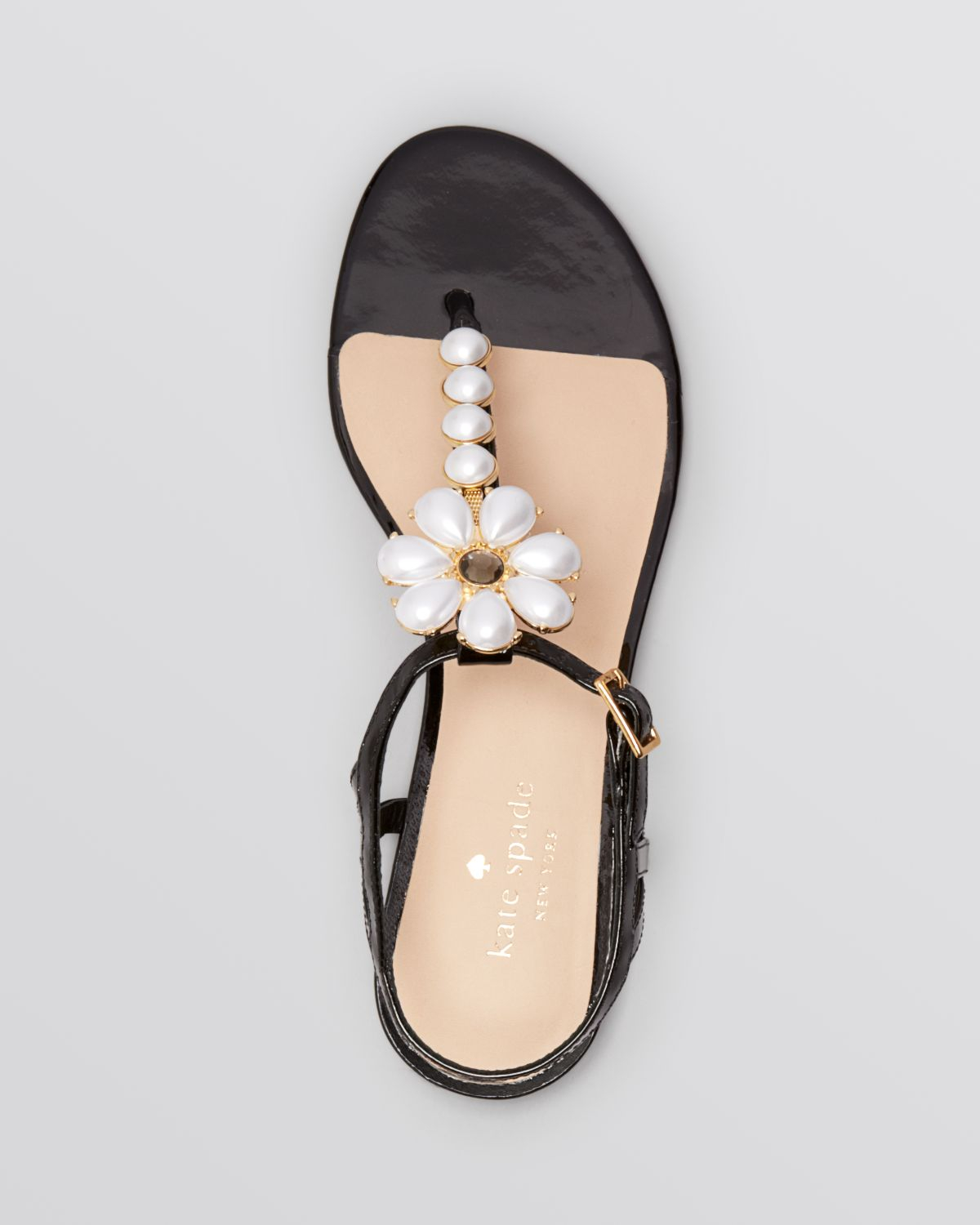 Lyst Kate Spade New York Flat Thong Sandals Shelby In Black