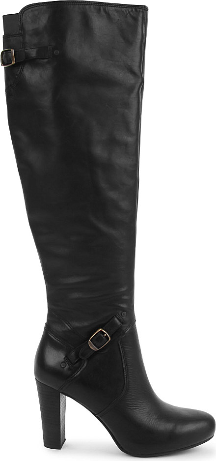 Ugg Adyson Leather Knee High Boots In Black Lyst