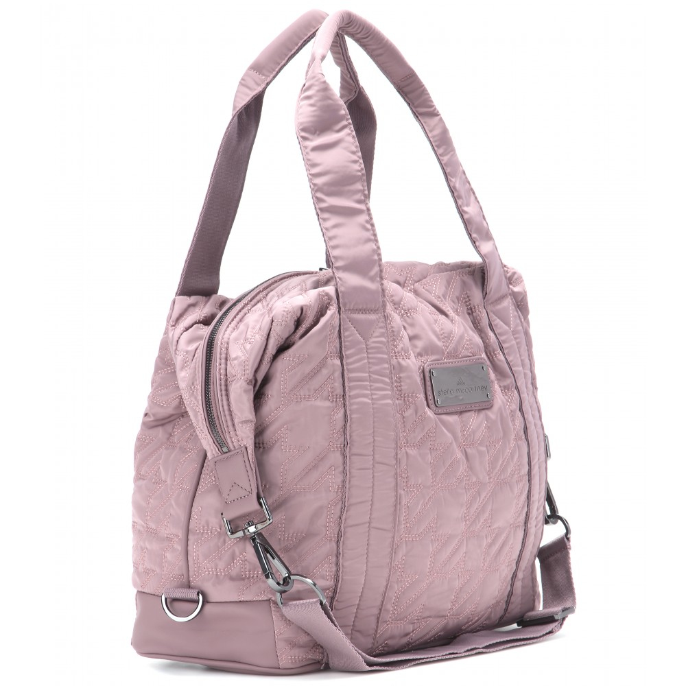 Lyst - adidas By Stella McCartney Quilted Gym Bag in Pink 89a0dc53dd