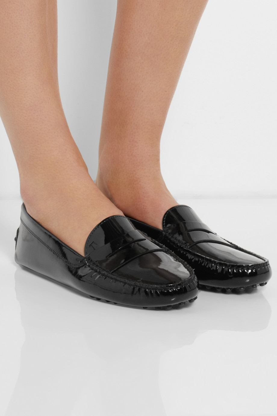 1b4ce2eff07 Lyst - Tod s Gommino Patent-Leather Loafers in Black