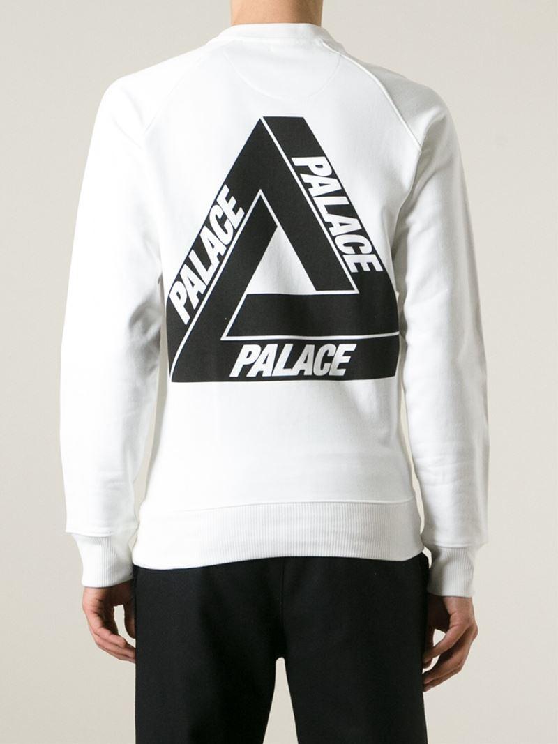 Palace U0026#39;Tri-Fergu0026#39; Sweatshirt In White For Men | Lyst
