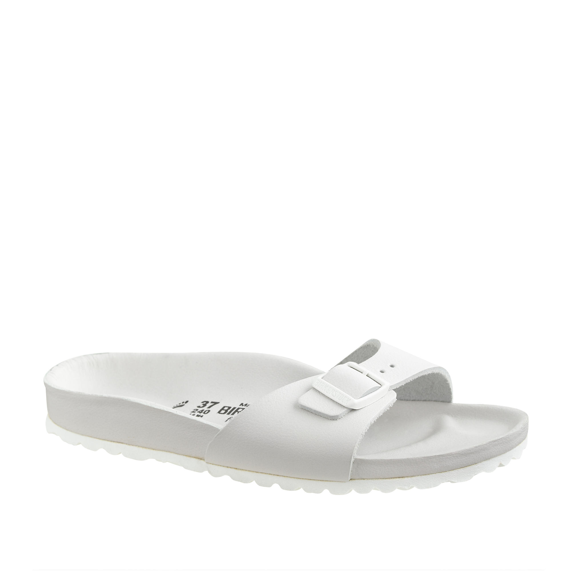 bfda9d0ab2710 Lyst - J.Crew Women s Birkenstock Madrid Exquisite Sandals in White