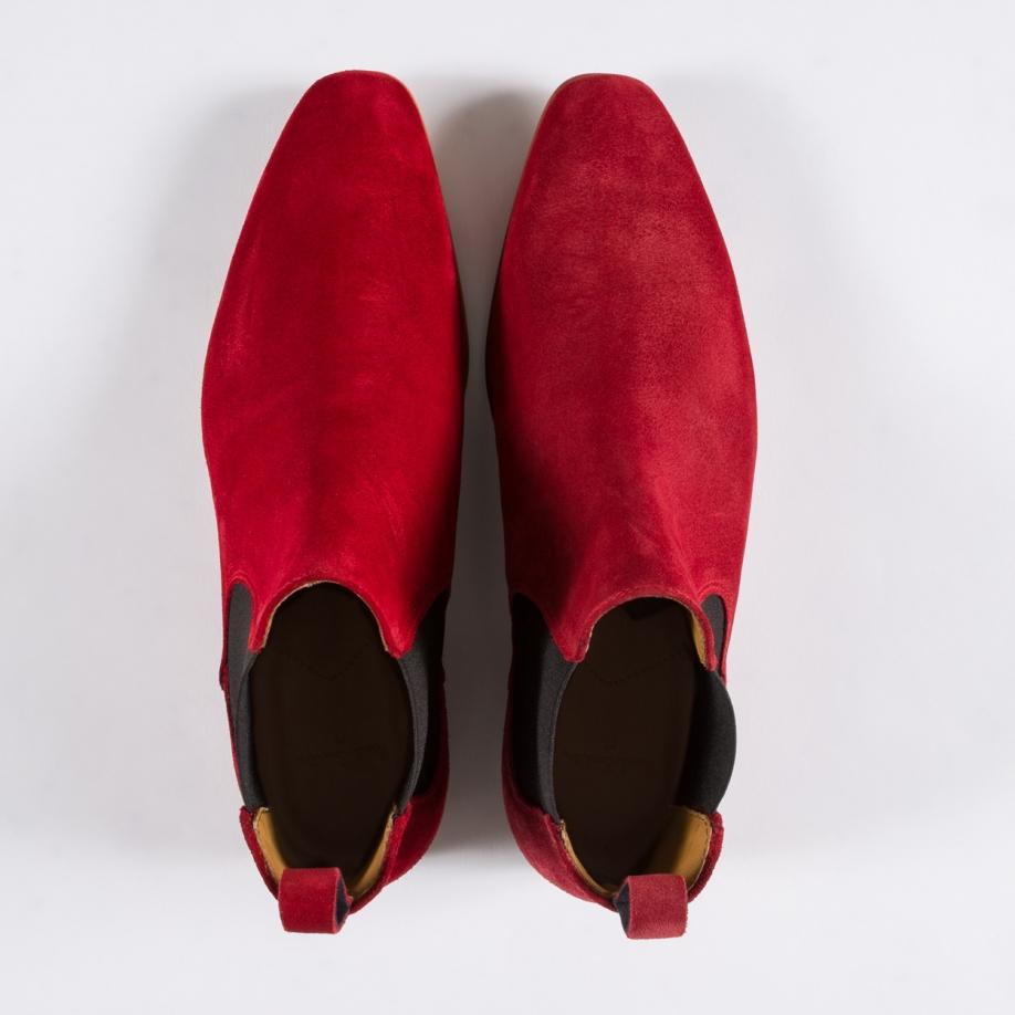 dcc0a01b10b Paul Smith Falconer Suede Chelsea Boots in Red for Men - Lyst
