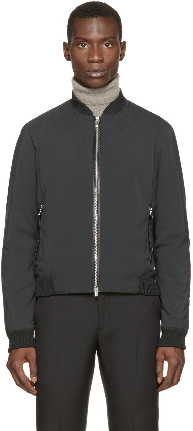 Costume national Black Bomber Jacket in Gray for Men | Lyst