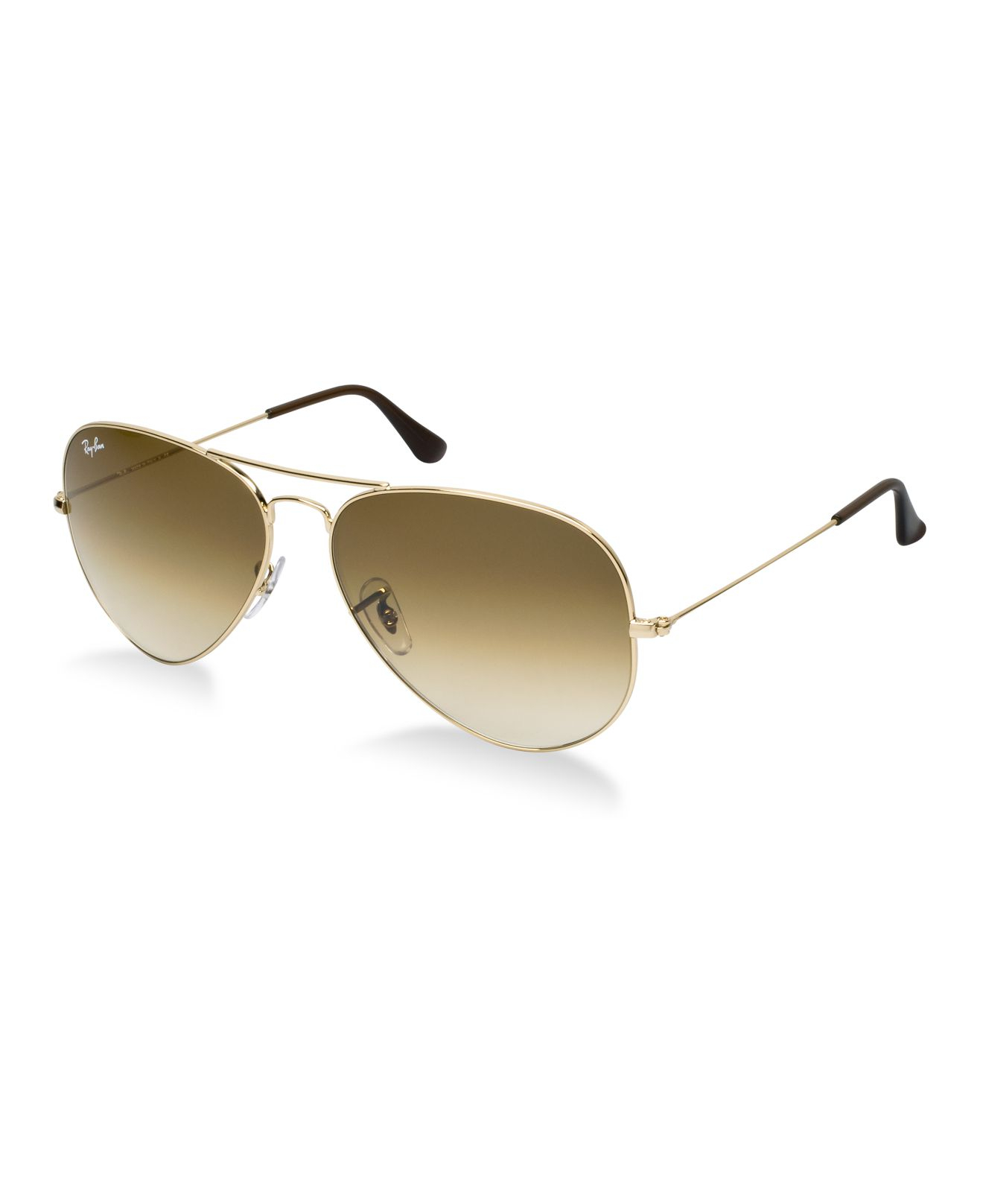 Ray ban rb3025 62 aviator gradient in metallic lyst for Ray ban aviator miroir homme