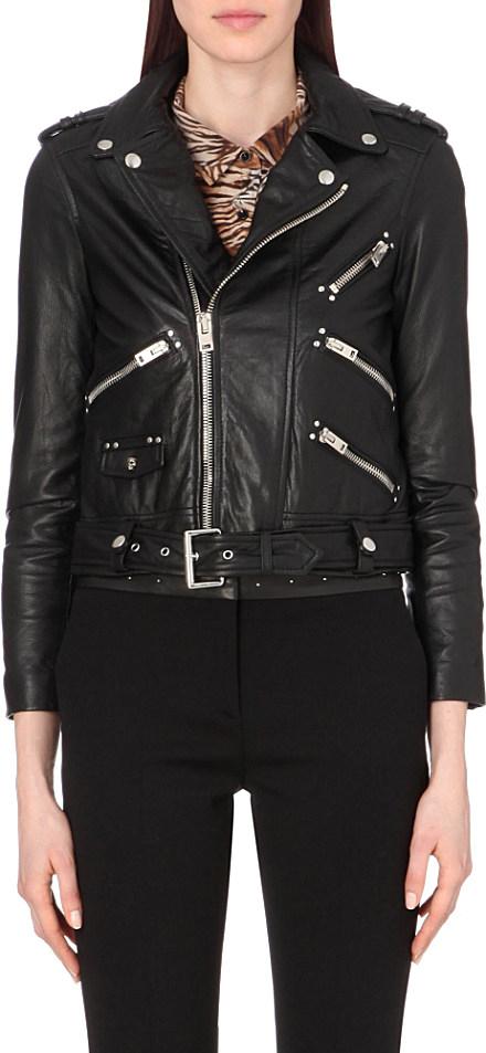 42b388390d The Kooples Leather Biker Jacket - For Women in Black - Lyst