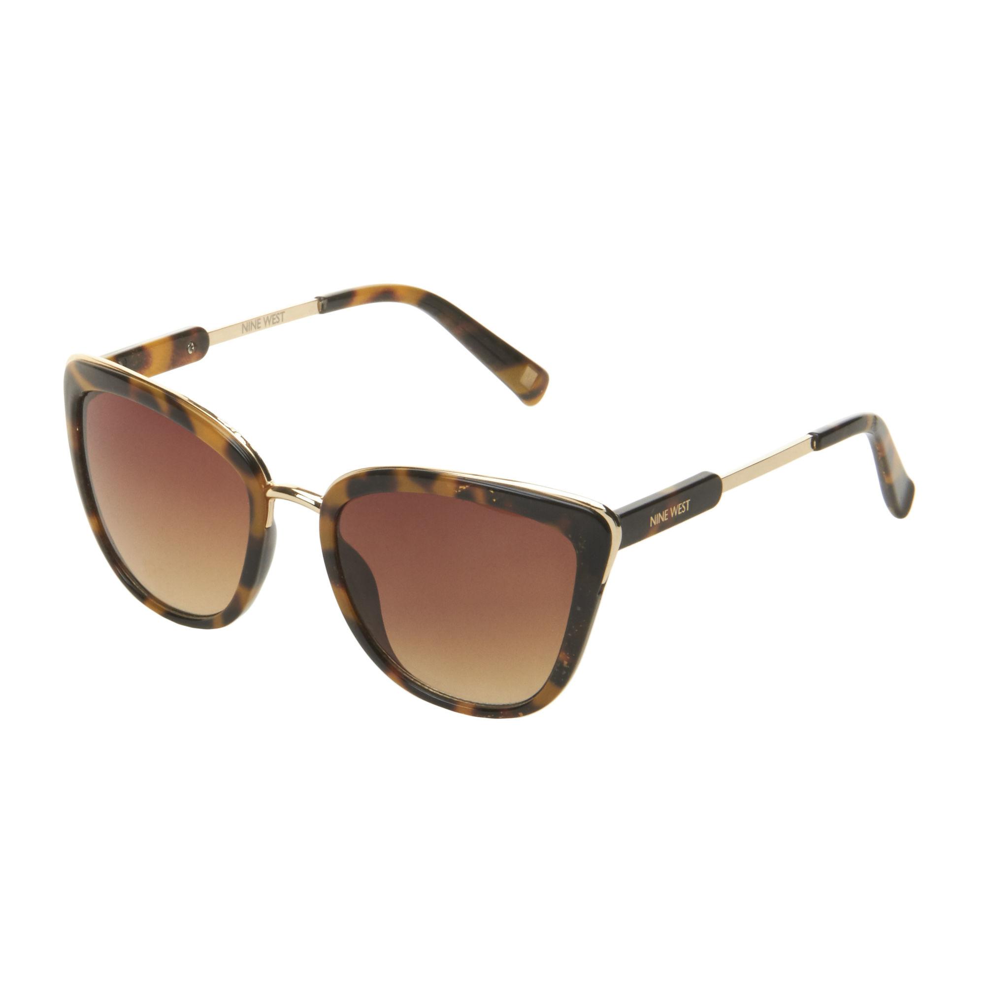 215d8ec34d Nine West Dark Tortoise Cat Eye Sunglasses - Lyst