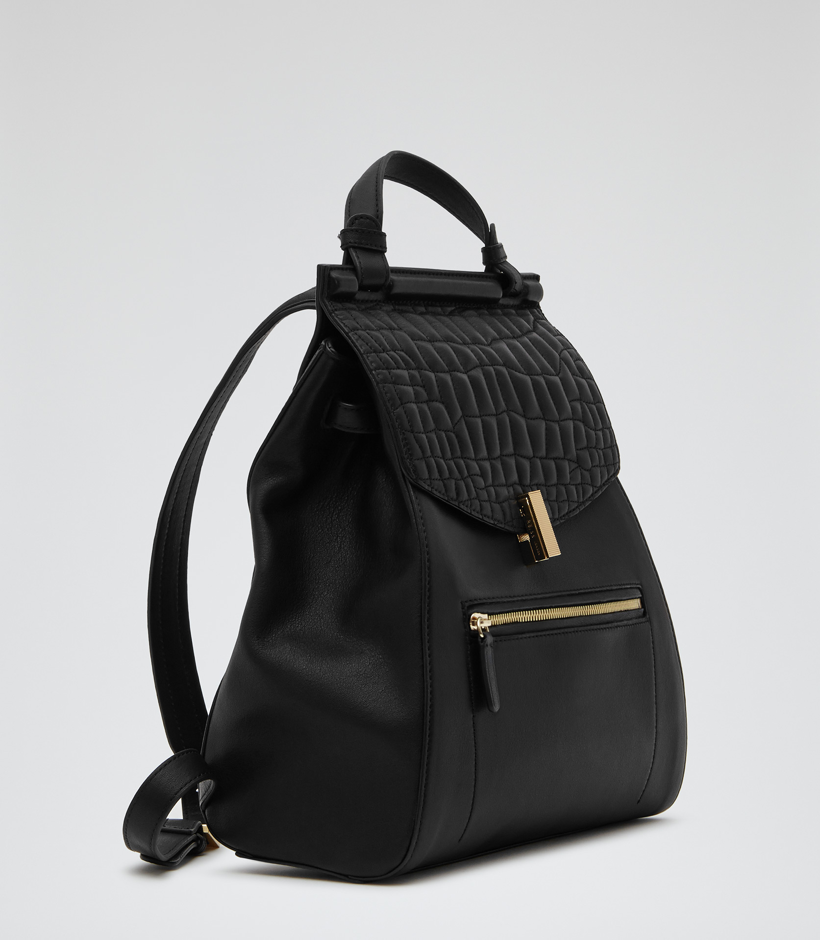 Lyst - Reiss Alto Quilted Leather Rucksack in Black : black quilted rucksack - Adamdwight.com