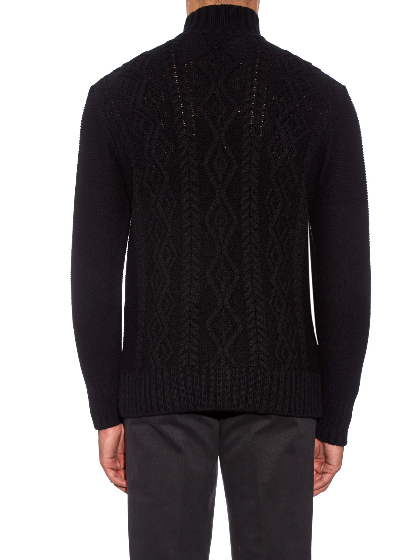 Inis meáin Aran-knit Merino-wool Sweater in Black for Men | Lyst