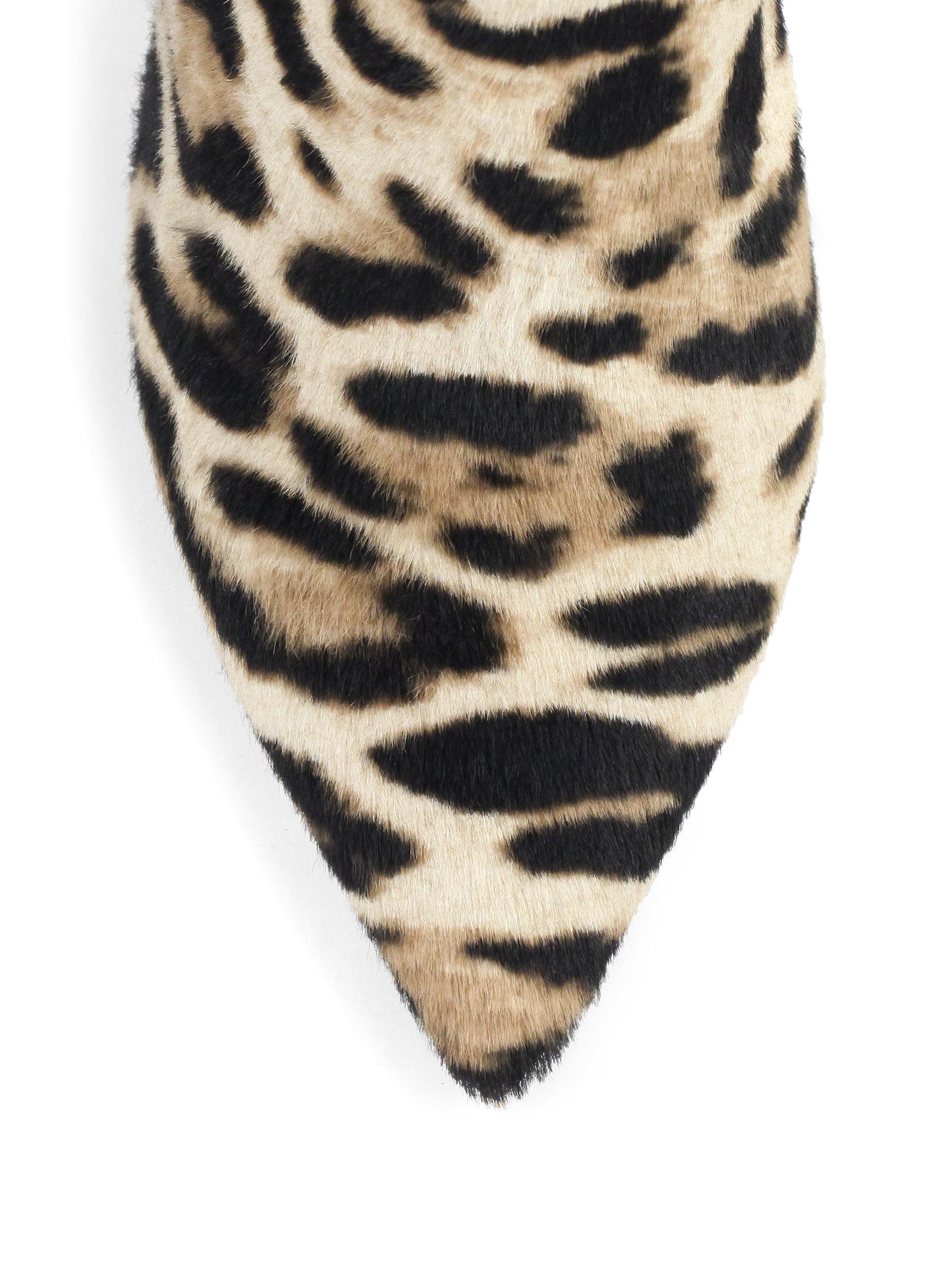 740677f6135 Lyst - Jimmy Choo Liesl Leopard-print Calf Hair Booties in Natural