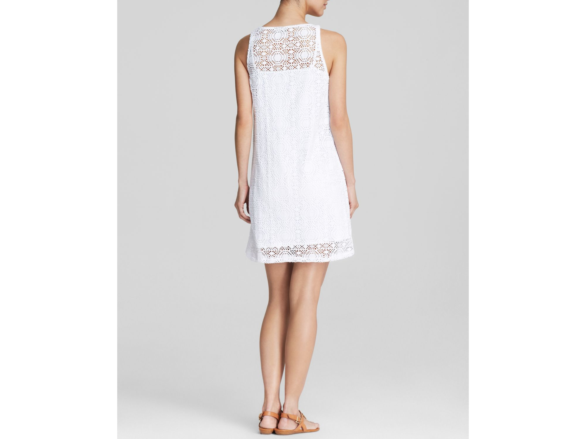 c984fd547a Lyst - Tommy Bahama Lace Covers Short Cover Up Tank Dress in White