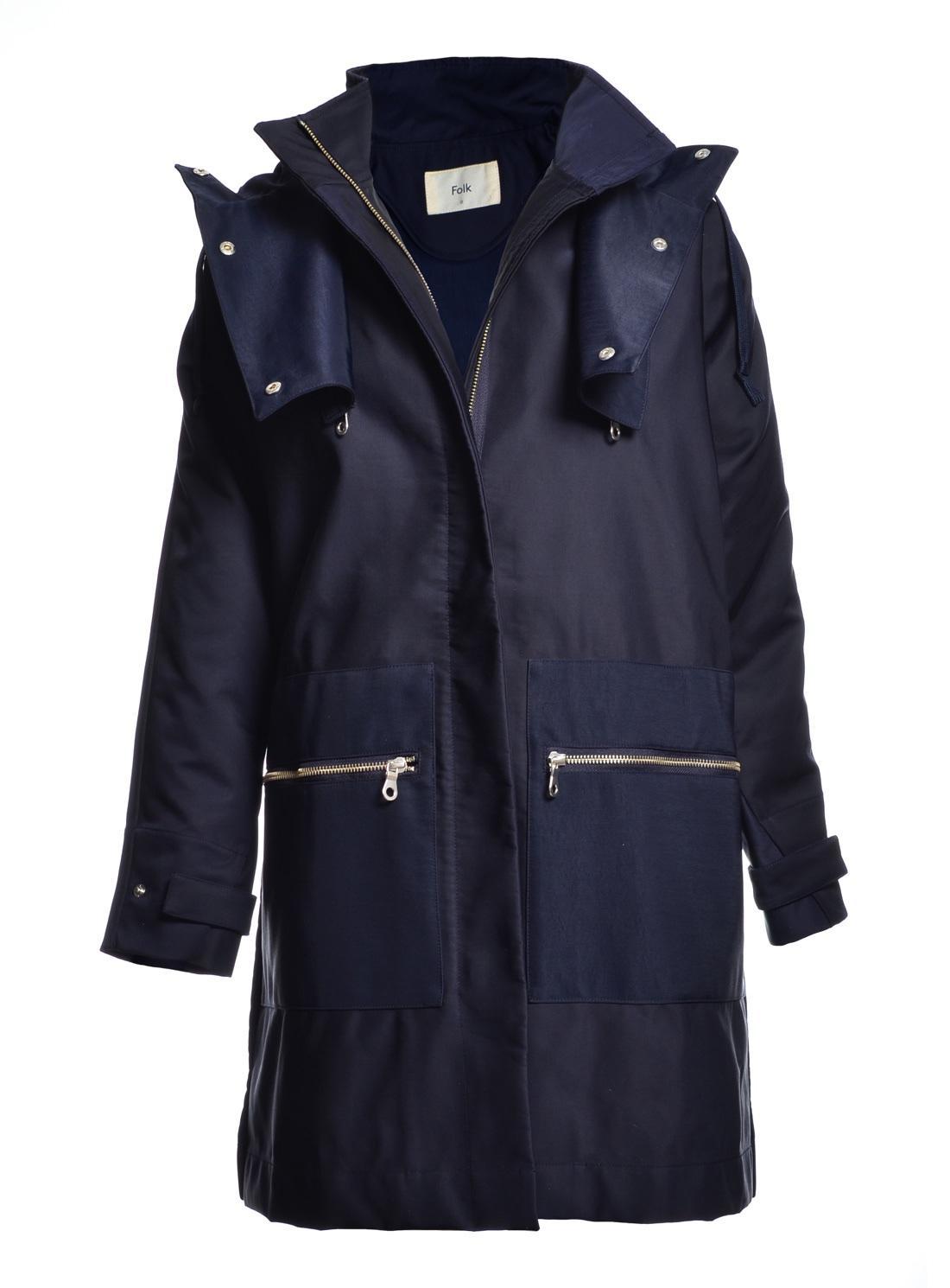 Folk Cirrus Navy Blue Raincoat in Blue | Lyst