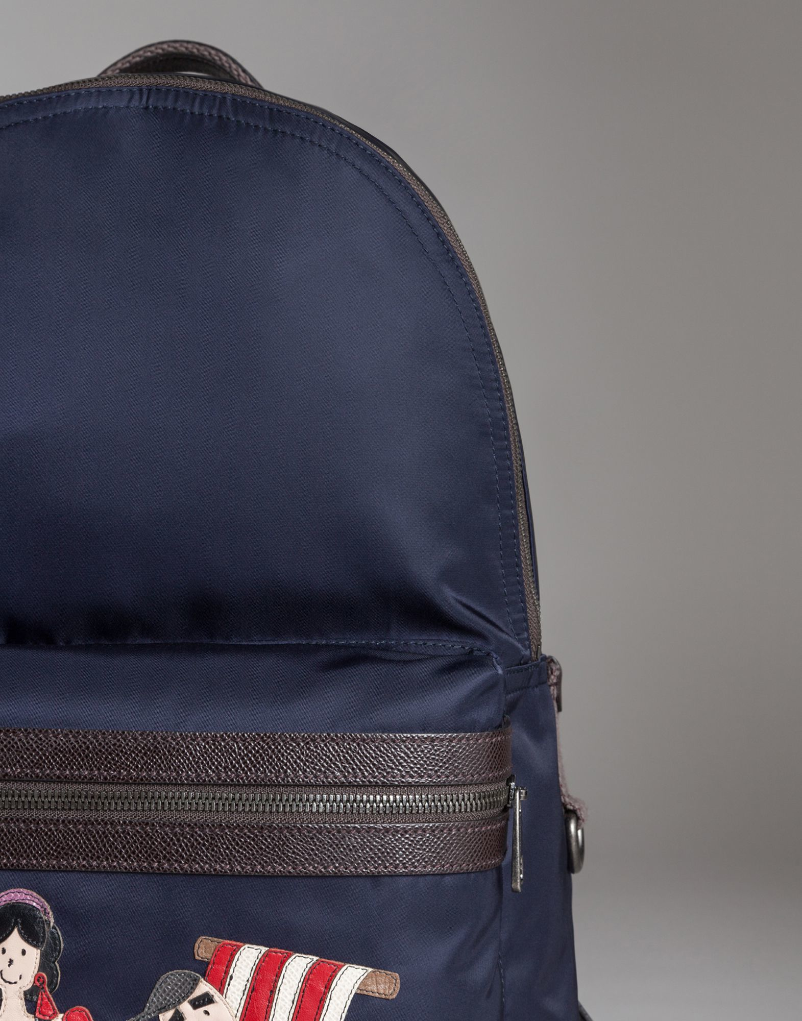 ... Lyst  sale retailer 65816 bcf96 Dolce Gabbana Vulcano Backpack In Nylon  With Appliqués in Blue for Men ... 9680d7e4c8