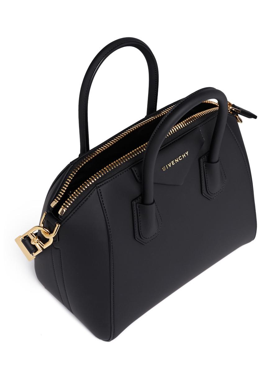 Lyst - Givenchy Antigona Small Rubberized Shoulder Bag in Black 336de28f4a8b2