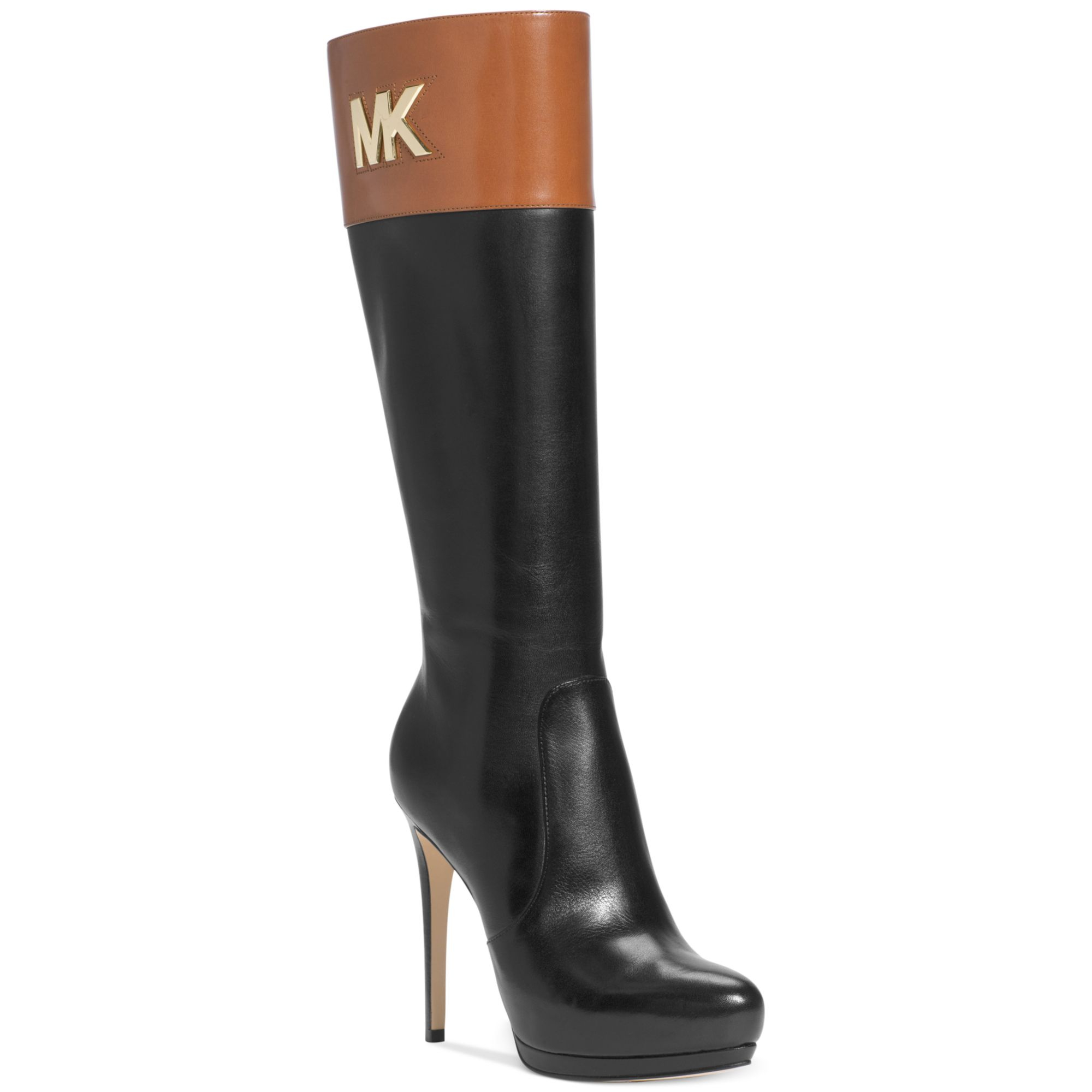 michael kors ankle boots in black brown lyst models
