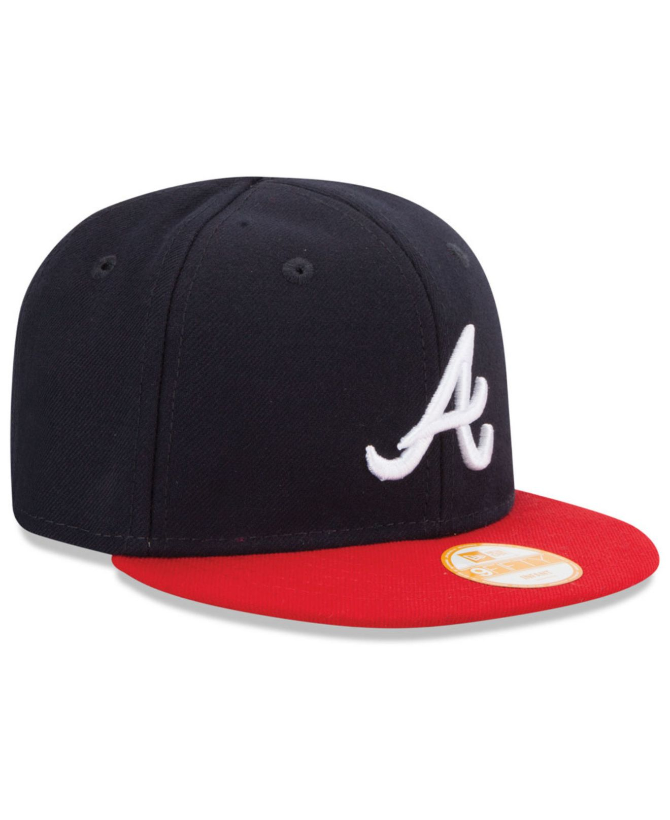 6cabcc8bb58ad Lyst - KTZ Babies  Atlanta Braves 9fifty Snapback Cap in Blue