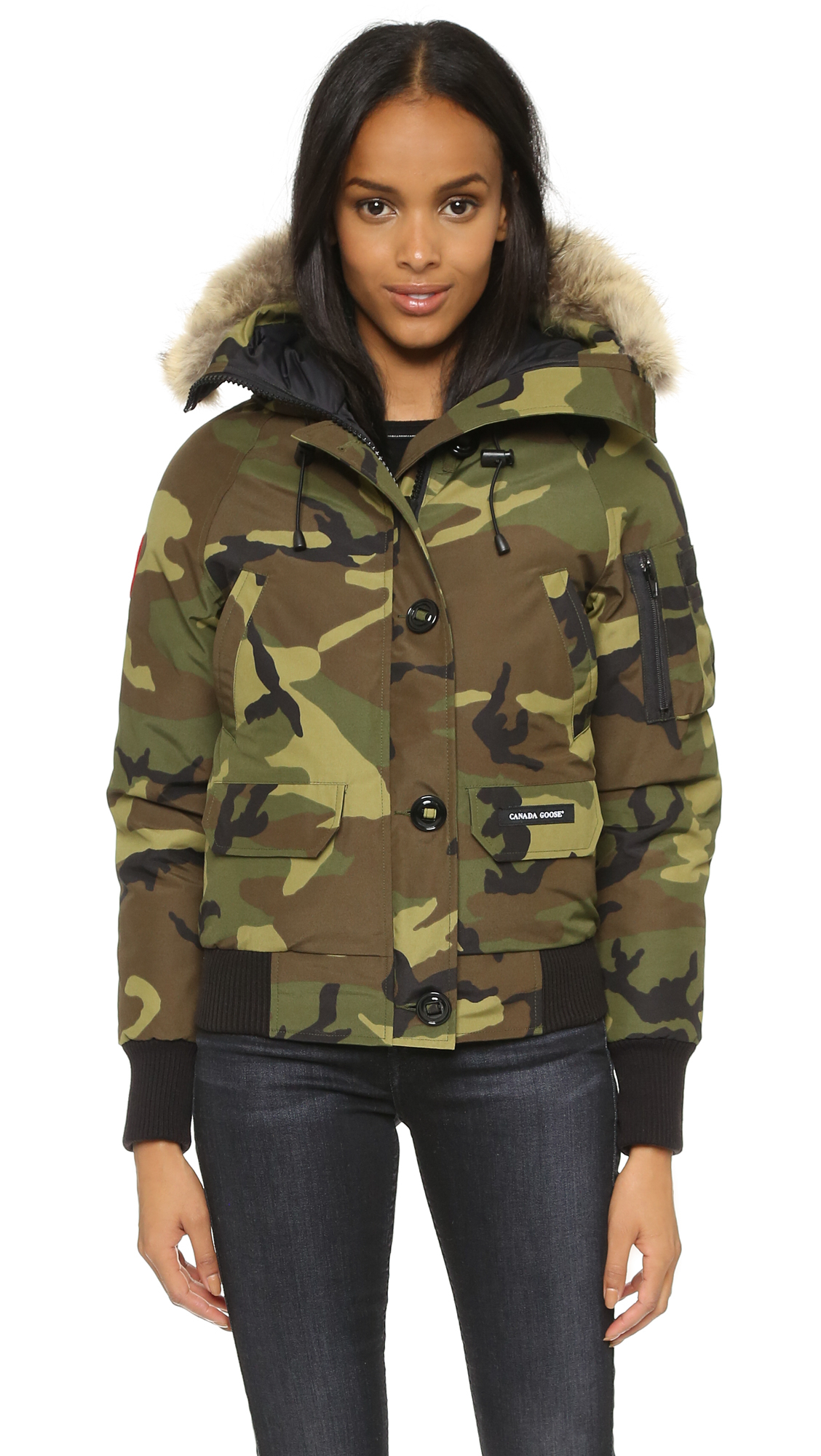 Canada Goose victoria parka outlet official - Canada goose Chilliwack Bomber Jacket in Green (Camo) | Lyst