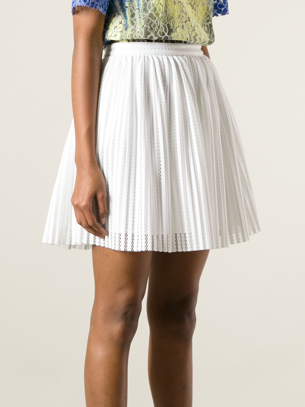 White Pleated Skirt Dress Ala