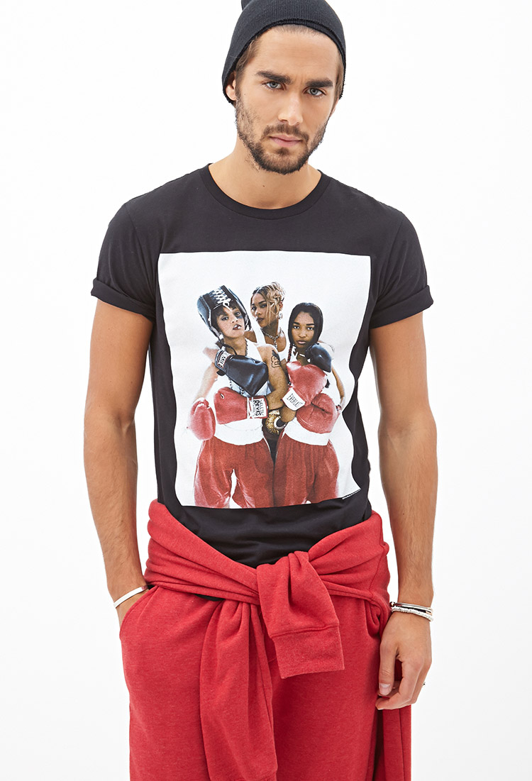 709ce0e95 Forever 21 Tlc Graphic Tee in Black for Men - Lyst