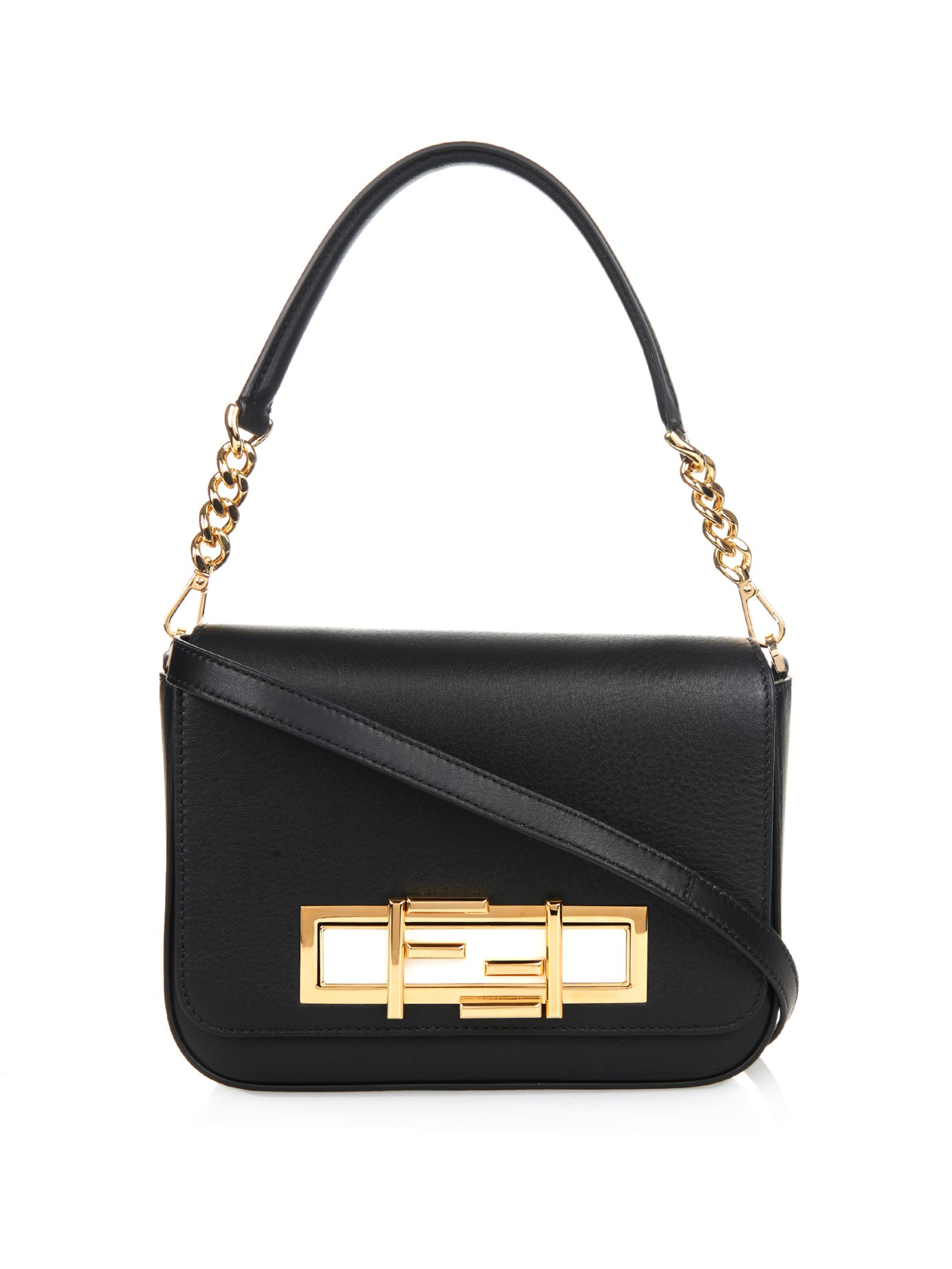 1c93cb4613c6 Lyst - Fendi 3Baguette Leather Cross-Body Bag in Metallic
