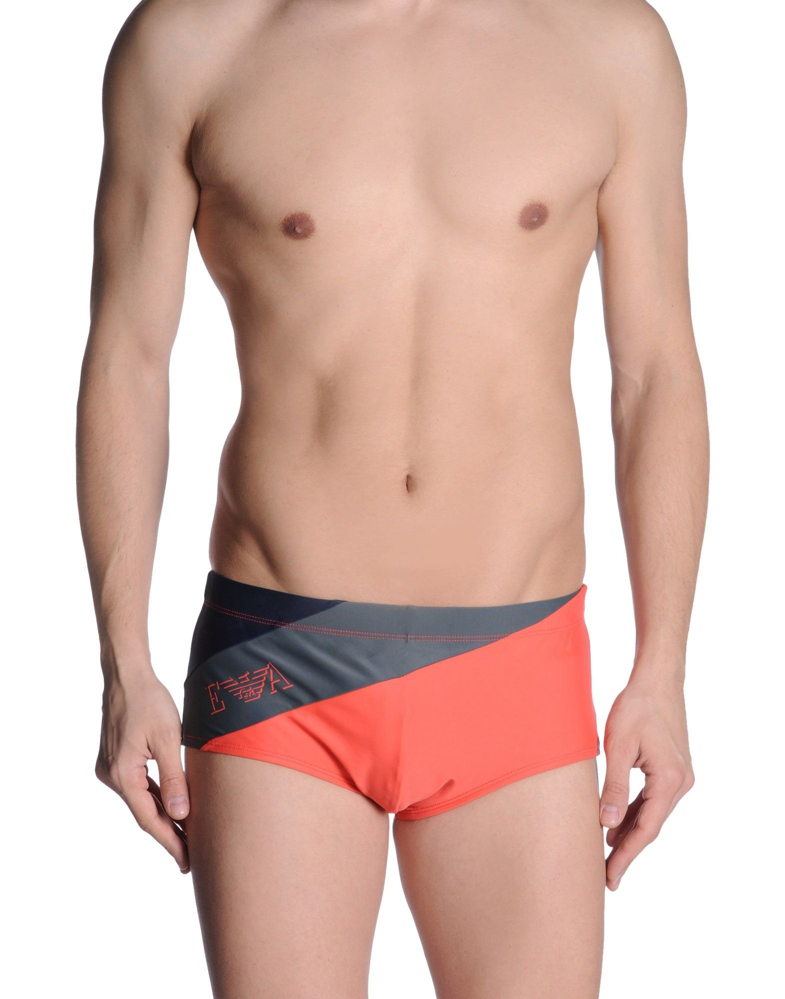 emporio armani bikini bottoms in pink for men coral save 55 lyst. Black Bedroom Furniture Sets. Home Design Ideas