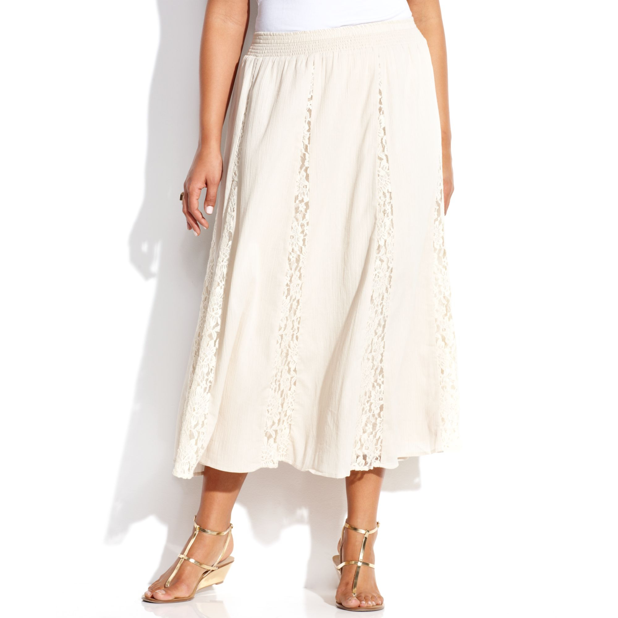 inc international concepts plus size lace maxi skirt in
