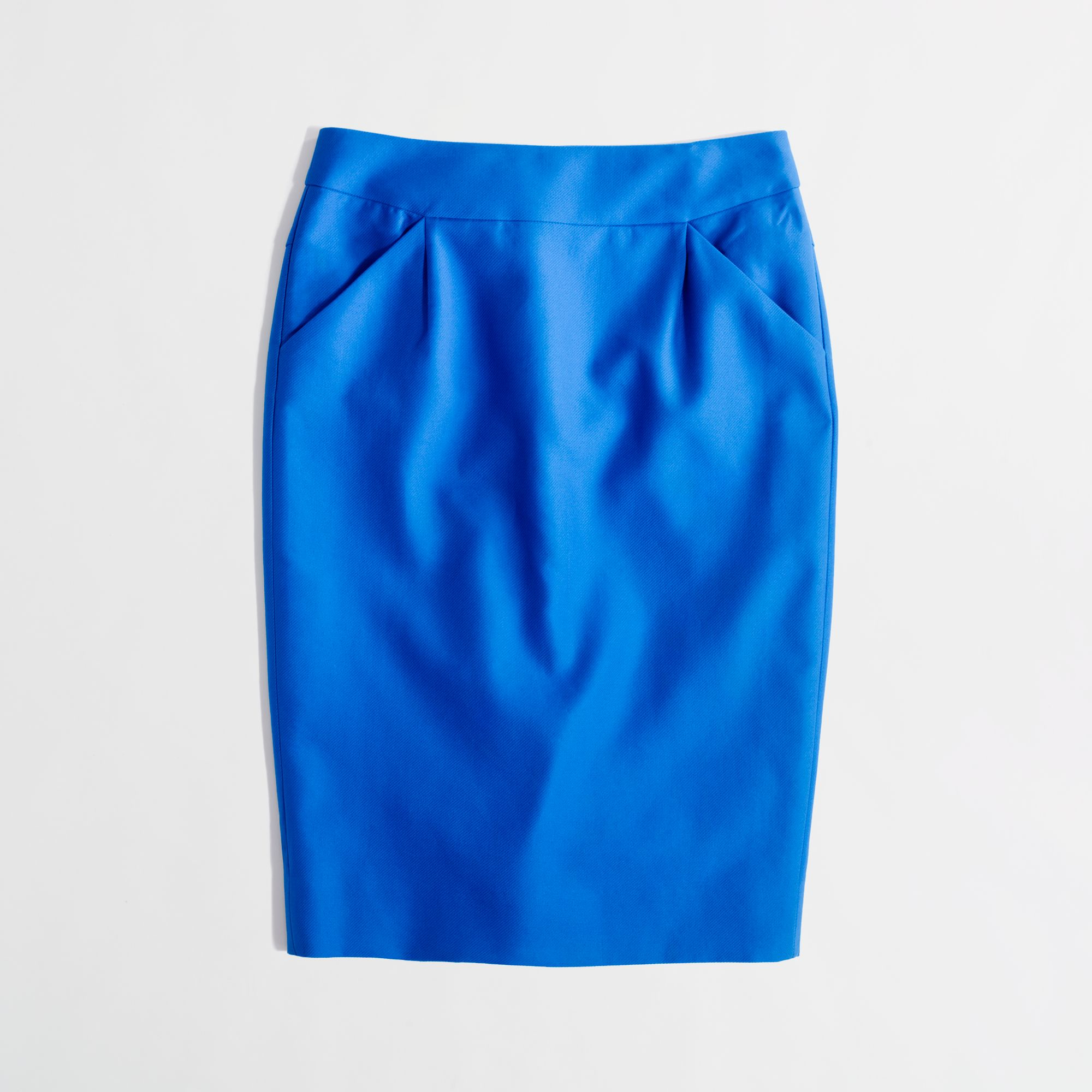 45e1122b14b4 J.Crew Factory Long Pencil Skirt in Double Saerge Cotton in Blue - Lyst