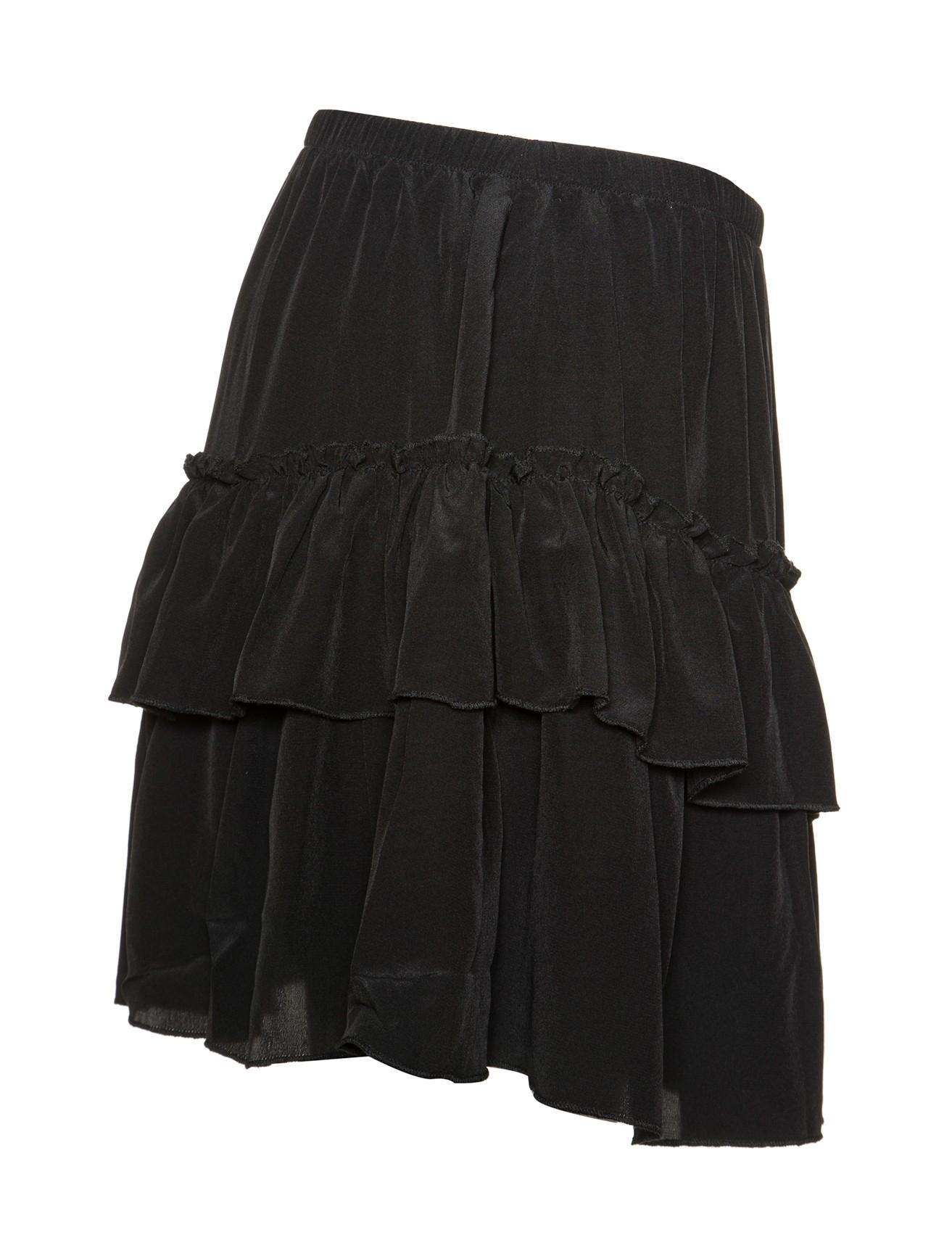 Silk ruffle skirt finish