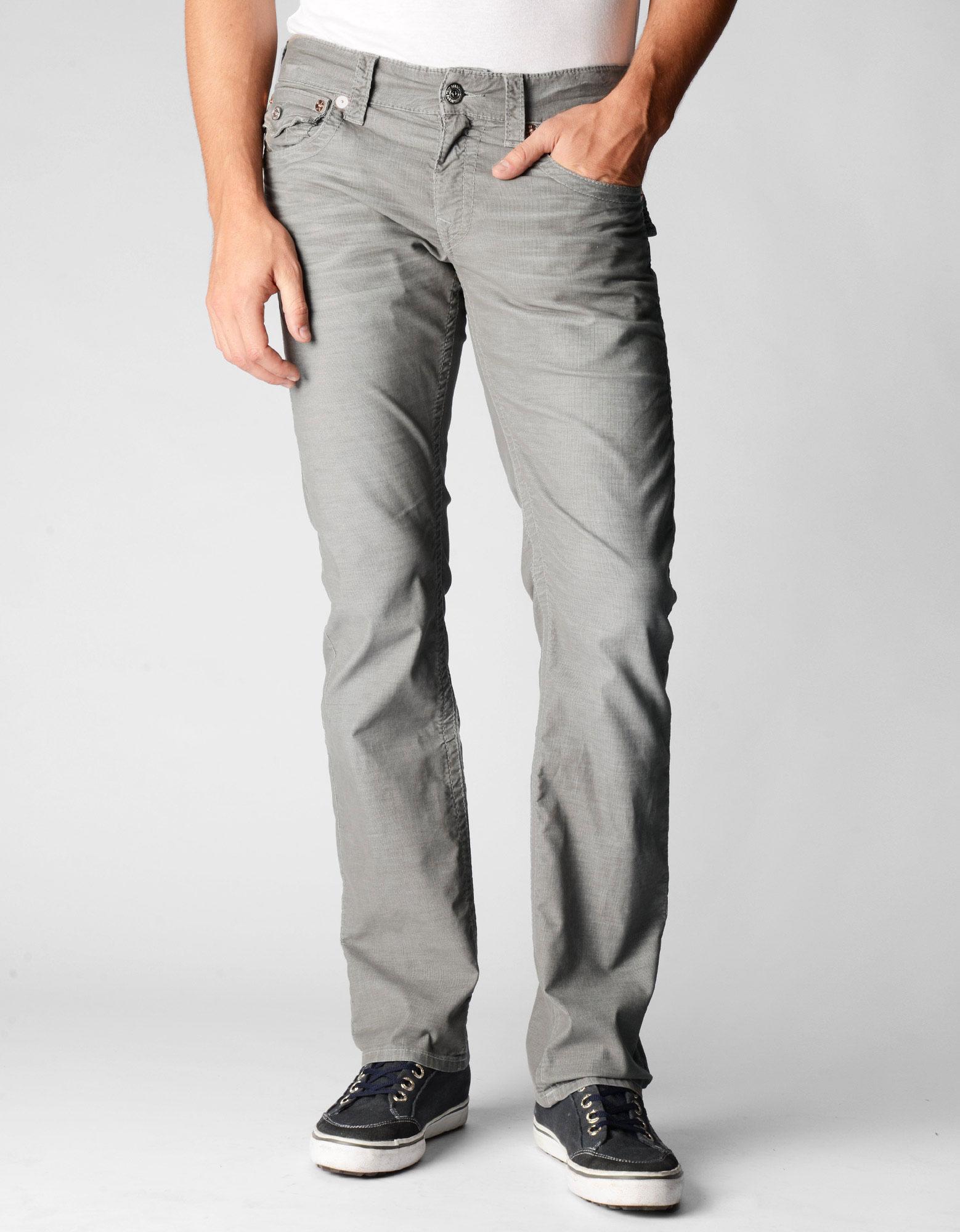 True religion Mens Ricky Straight Leg Corduroy Pants in Gray for ...