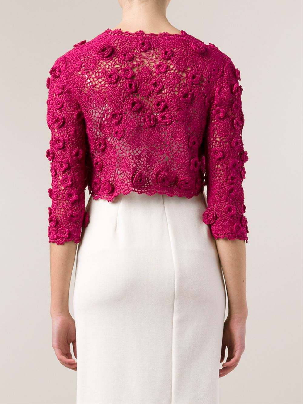 Pink bolero jacket designer jackets for Designer bolero