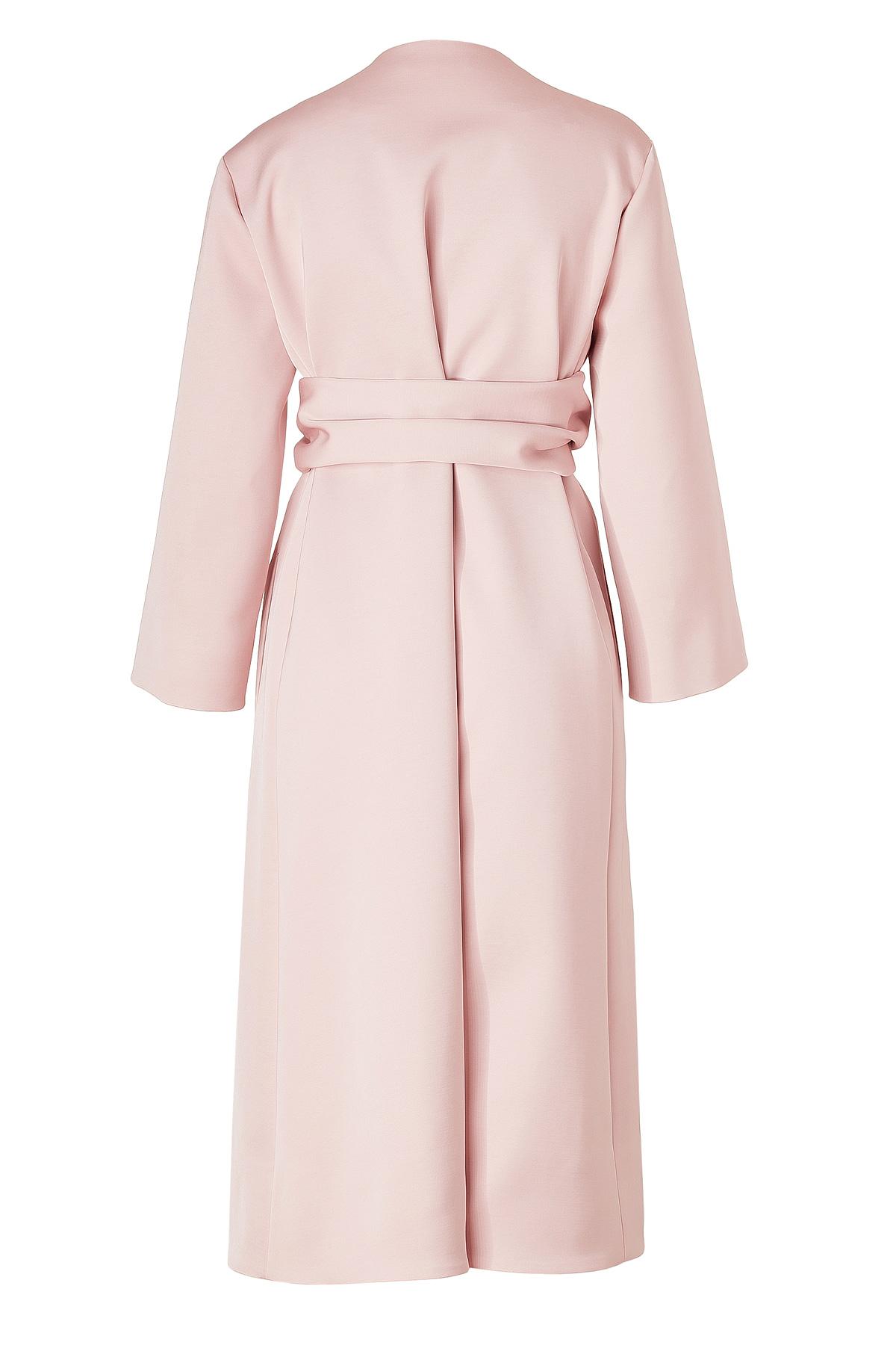 Jil sander Bonbon Pink Belted Coat in Pink | Lyst